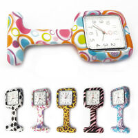 AM_ WOMEN'S SILICONE POCKET NURSE WATCH CLIP-ON- BROOCH QUARTZ MOVEMENT WATCH NI