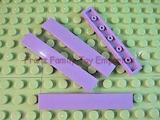 New LEGO TILE 1x6 Lavender / Light Purple Plain Smooth Lot of 4 Part 6636