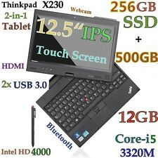 "ThinkPad X230 TABLET i5-3320M (256GB-SSD + 500GB 12GB) 12.5"" IPS Multi-Touch BT"
