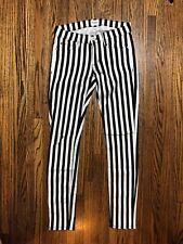 HUDSON Krista Super Skinny in Black and White Stripe Size 24
