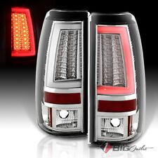 For 03-06 Silverado/Sierra LED Tail Lights w/Fiber-Optic Tube & LED Signal