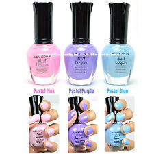 3 KLEANCOLOR NAIL POLISH PASTEL PINK, PURPLE, BLUE COLLECTION LACQUER 3SET18