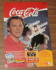 Seltene Werbung Panini FUSSBALL EM Euro '88 Franz Beckenbauer Sammelbilder 1988
