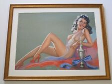 BELLEN ANTIQUE 1940'S PINUP GIRL WOMAN DRAWING PORTRAIT FEMALE WOMAN MODEL NUDE
