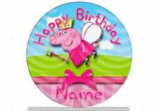 Peppa Pig Edible Image Cake Topper Round 20cm  Icing  #18