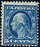 US #335  Mint-OG ~ 1908 Blue 5c Perf 12 Double-Line Watermarked