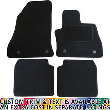 For Fiat 500L 2013+ Fully Tailored 4 Piece Black Car Mat Set with 4 Clips