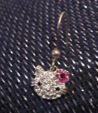 Very pretty single silver tone earring Hello Kitty style great fun