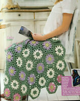 CROCHET PATTERN Daisy Flower Blanket Home Throw Motif 81cm Debbie Bliss PATTERN