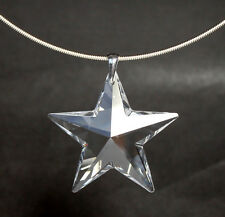 Schöne Collier Kette mit Swarovski® Kristall Stern GROSS + Schmuck Etui