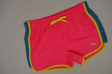 NWT PUMA Girls L Large 12  athletic Shorts - Pink - Elastic Waist - NEW