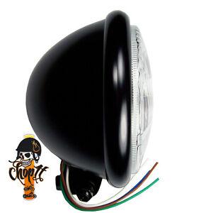 Motorradscheinwerfer schwarz Halterung unten für Harley Hauptscheinwerfer Custom