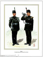 Signed Army Print Royal Green Jackets & Light Infantry