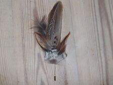 Natural impresionante Sombrero De Plumas pin.countryside wear.millinery Boda