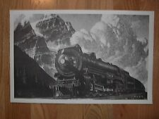 OLD CANADIAN PACIFIC RAILROAD TRAIN PRINT! H C HAHN LOCOMOTIVE PRINTS HERE! LOOK