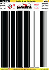 MG6404-3 1/24 High Def UltraCal Decals Racing Stripe Decals Style 3