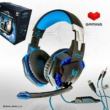Gaming Headset PC Laptop + Microphone PRO Gamer EACH G2000 BASS Spiel Kophörer