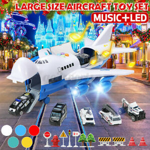 Music Story Simulation Toy Aircraft Large Passenger Plane Kids Airliner Gift Car