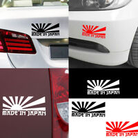 Rising Sun Made In Japan JDM Car Sticker Decal Motorcycle Stickers Decor 3Color