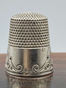 VINTAGE ESTATE MKD KETCHUM & McDOUGALL STERLING SILVER THIMBLE SIZE 11