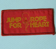 VINTAGE JUMP ROPE FOR HEART EMBROIDERED SOUVENIR PATCH WOVEN CLOTH SEW-ON BADGE