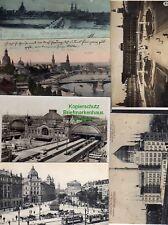 120519 6 AK Dresden Litho Zwinger 1898 Carola Brücke Hauptstraße Altstadt Panora