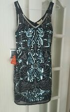 Frock and Frill Black Sequin dress size 10