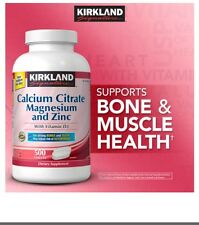 Kirkland Signature Calcium Citrate 500 mg, 500 Tablets With 800 mg. Vitamin D3