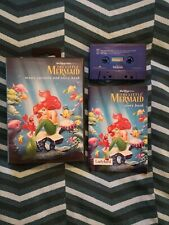 Rare Little Mermaid Story Book Cassette And Book In A Mega Drive Case - Disney