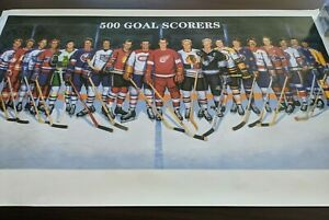 "1995 Ron Lewis Unsigned NHL 500 Goal Scorers 271/2 x 221/2"" Poster !!!!"