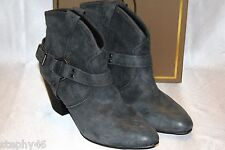 NEW! NIB ASH Graphite Suede Leather JAMIE BIS Pull On Harness Boots 10 EU40 $225