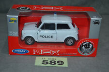 Welly NEX Mini Cooper 1300 1:34 Diecast Model Car In White New In Box Boxed