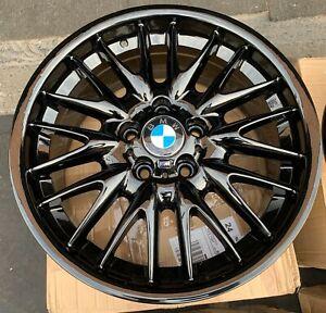 "Genuine BMW MV1 18"" Style 72 8J Front Alloy Wheel in Gloss Black x1 36117896470"