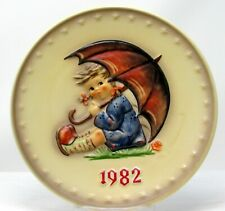 Goebel Hummel 1981 and 1982 Annual Christmas Collector Plates