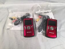 Lot of TWO Polaroid DVF-130 USB Digital Camcorder Red Software Manual - Untested