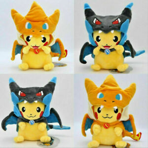 "9"" Pikachu Charizard Cosplay Plush Doll Teddy Stuffed Soft Toy Kids Gift"