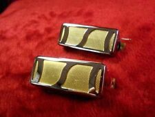 2 GOLD FOIL PICKUP FOR TEISCO HARMONY KAY SILVERTONE DEARMOND PAIR