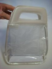 "NEW Mary Kay Large White Handle Clear Vinyl Gift Bag (8""x 9""x 3"") (Box)"
