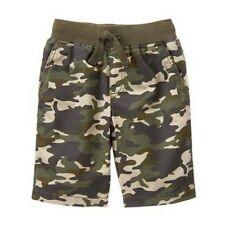 NWT Gymboree Boys Lightweight Drawstring Pull-On Shorts Short NEW Olive Camo 10