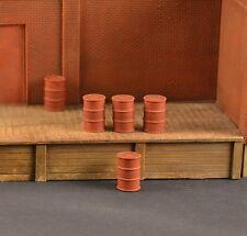 #S003 S Plaster Oil Drums, 12 Pieces Produits MP Diorama fuel barils
