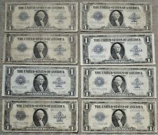 New ListingLot of (8) 1923 $1 Silver Certificates, Better Large Size Type One Dollar Notes