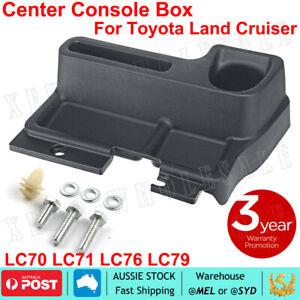 Centre Console Storage Box For Toyota LC70/71/76/77/79 Series LandCruiser Black