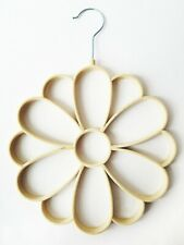 Beige Neutral Equilibrium Flower Wardrobe Hanger Scarf Holder New Flocked NEW