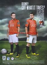 """Fifa 08 """"Rooney Got What It Takes?"""" 2007 Magazine Advert #1300"""