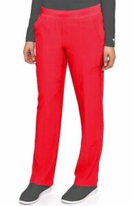 """Med Couture Scrubs Style #8744 Elastic Yoga Waist Scrub Pant in """"Red"""", Size XS"""