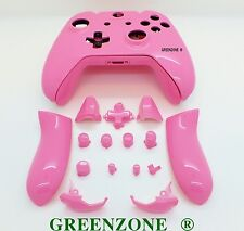 Pink Gloss Xbox One Replacement Custom Controller Shell Mod Kit with Buttons