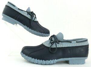 NEW! Women's Flint Navy Blue L. L. Bean Duck Boots Rubber Moc Size 7M