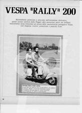 advertising Pubblicità brochure MOTO VESPA RALLY 200 PIAGGIO.MOTOITALIANE EPOCA