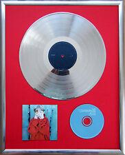 """Placebo - Placebo gerahmte CD Cover +12""""Vinyl goldene/platin Schallplatte"""