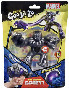 Black Panther Heroes of Goo Jit Zu Marvel Hero Pack Gooey Stretchy New FREE SHIP
